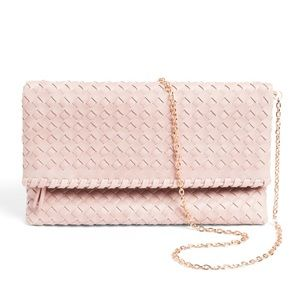 NWT, Urban Expressions Kay Woven Fold-over Clutch